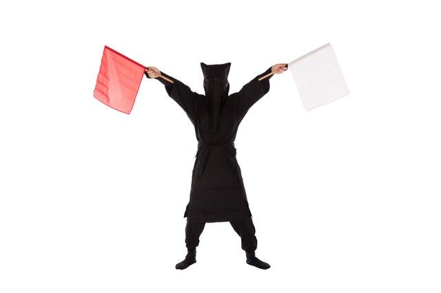 黒子の手旗信号10の写真