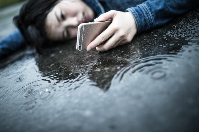 悲しい雨の日の出来事の写真
