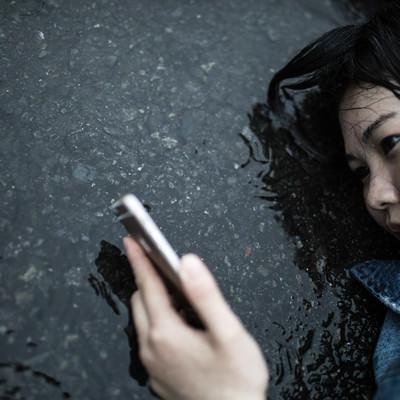 「いかにも悲しい雨のシーン」の写真素材