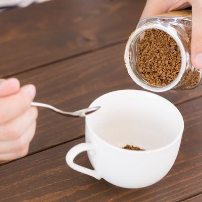 「インスタントコーヒーは濃い目がお好き」の写真素材