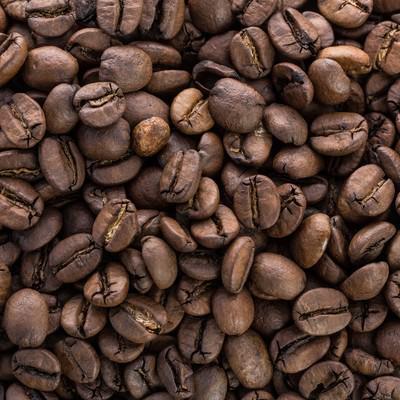 「敷き詰められたコーヒー豆」の写真素材