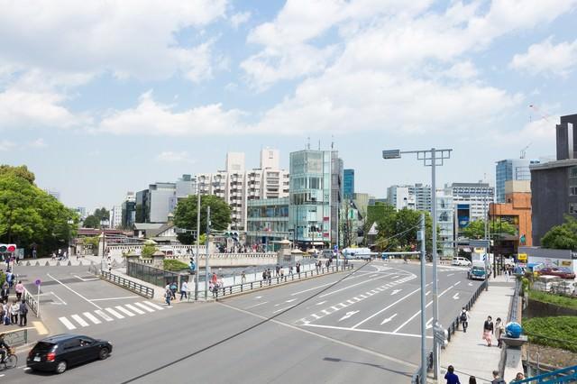 原宿駅前の交差点の写真