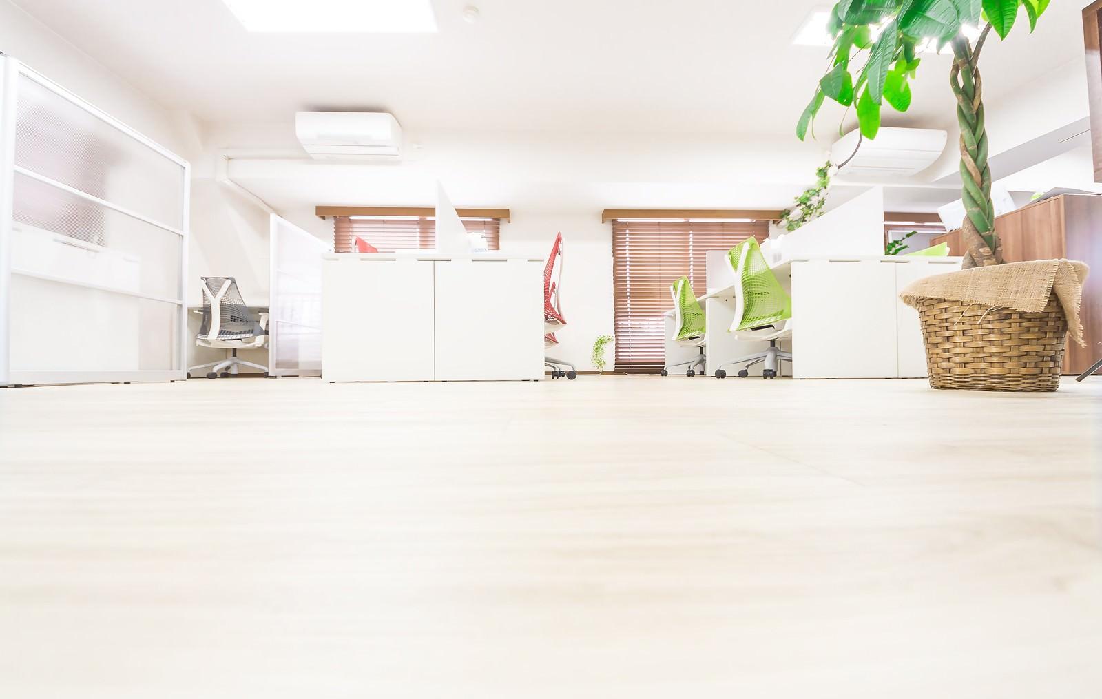 「清潔感のあるオフィスとフローリング」の写真