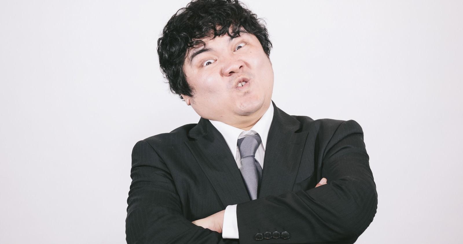 「ミスってもうた…あっ!上司怒ってるゥー!ミスってもうた…あっ!上司怒ってるゥー!」[モデル:段田隼人]のフリー写真素材を拡大