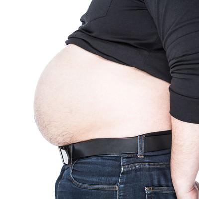皮下脂肪をアピールするグラマラスフトイの写真
