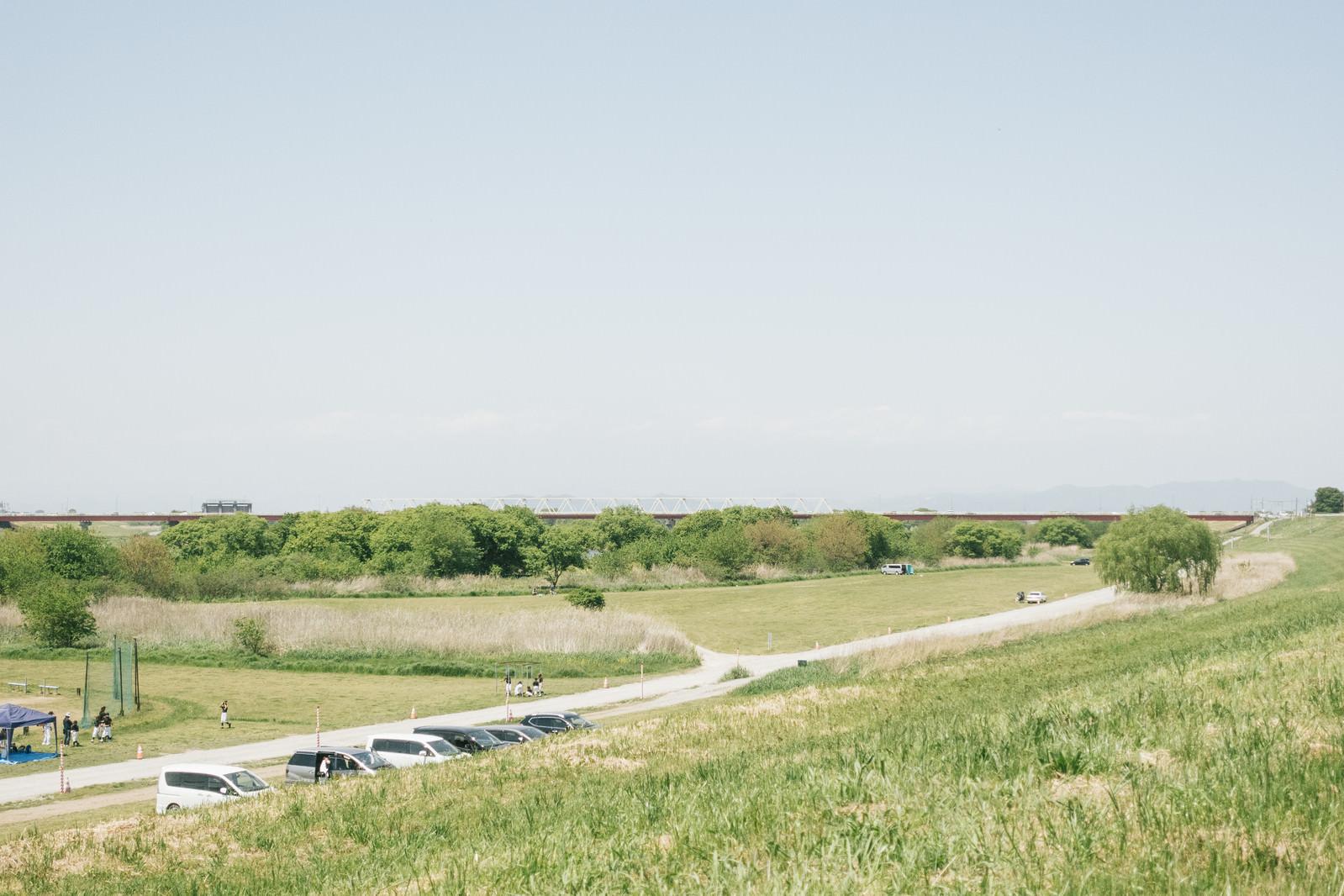 「河川敷にあるドローン練習場(古河市)」の写真