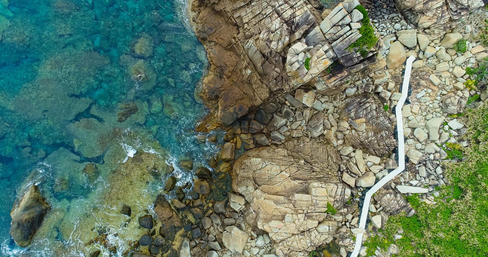 「徳之島ムシロ瀬上空からの撮影」の写真