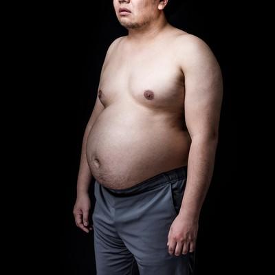 「たった2ヶ月で、このカラダ(肥満)」の写真素材