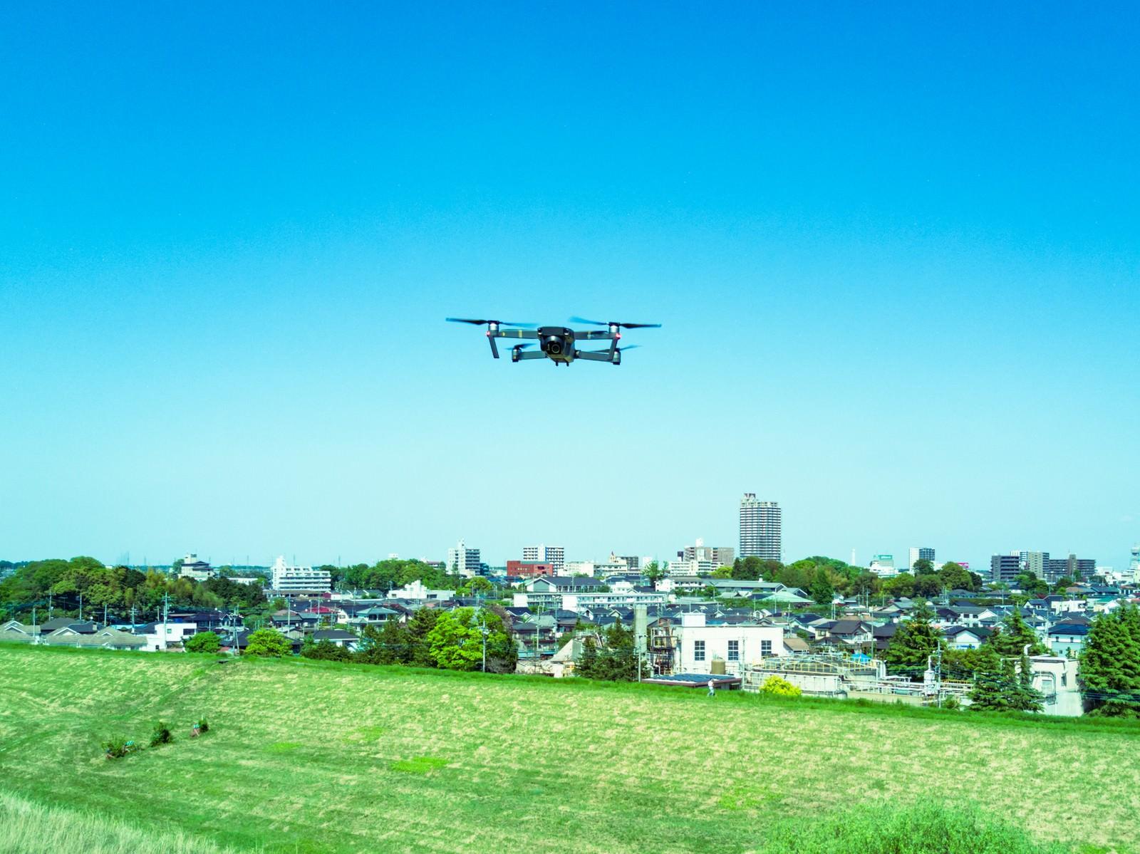 「近くにドローンが飛んできた(ニアミス)」の写真