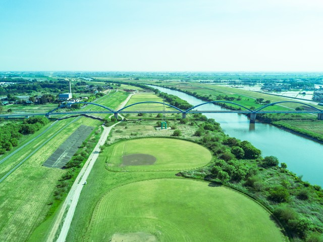 リバーフィールド古河(空撮)の写真