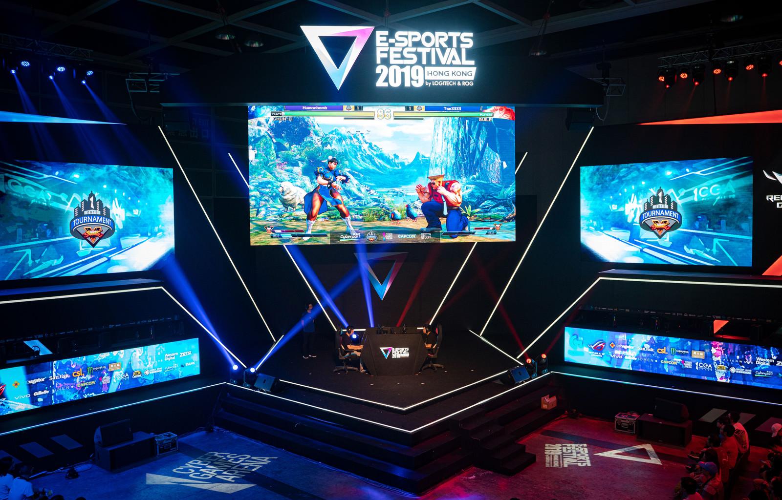 「香港で開催されたストリートファイターⅤの大会.  - E-Sports Festival Hong Kong 2019」の写真