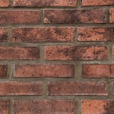 「茶色いレンガの壁(テクスチャー)」の写真素材