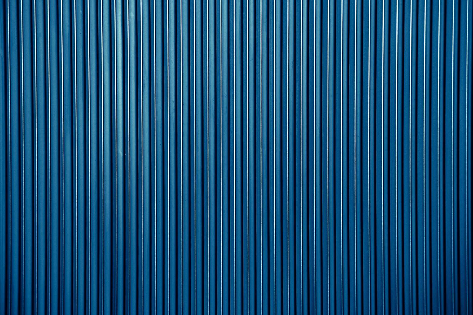 「青いトタン(テクスチャー)」の写真