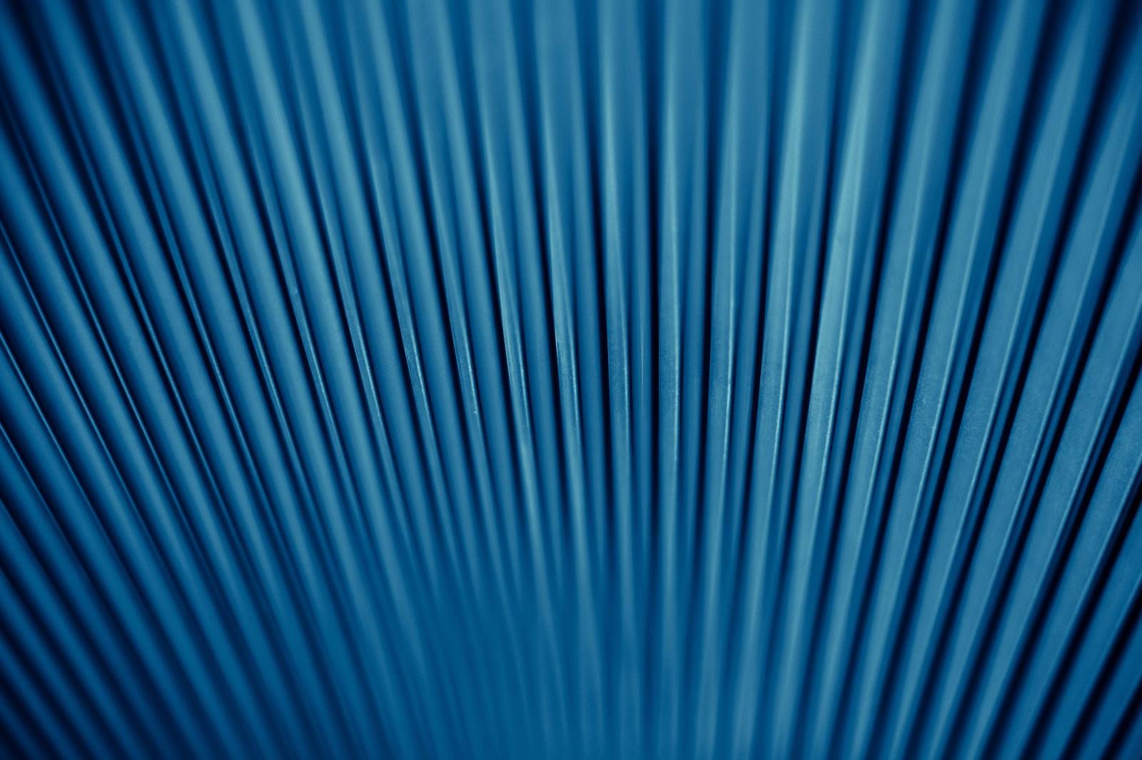 「青いトタンの壁」の写真