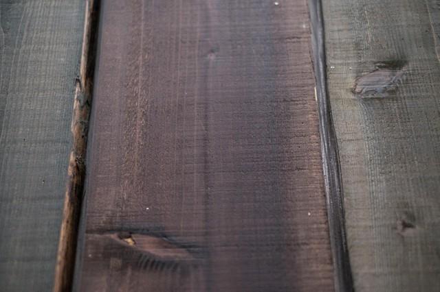木の柵の写真