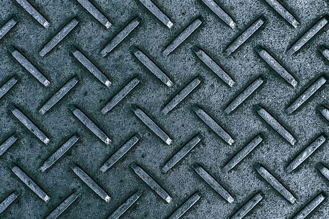 金属の足場板(テクスチャー)の写真