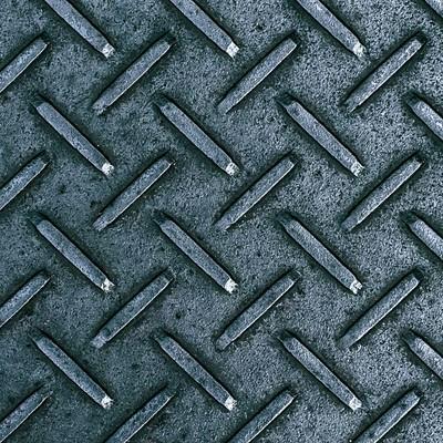 「金属の足場板(テクスチャー)」の写真素材