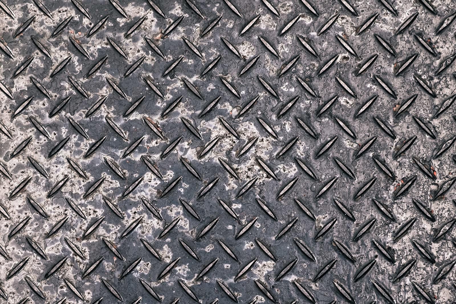 「腐食した金属の足場板(テクスチャー)」の写真