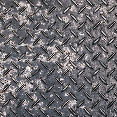 「腐食した金属の足場板(テクスチャー)」の写真素材