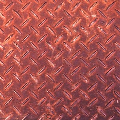 「赤く錆た足場板(テクスチャー)」の写真素材