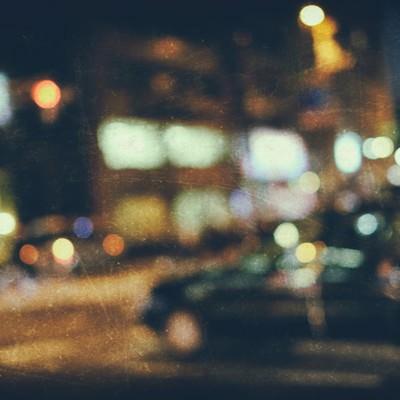 「奥まった駐車場(ノイズ)」の写真素材