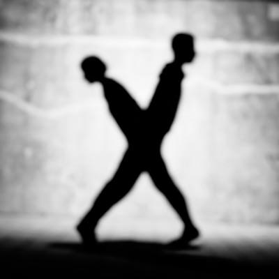 「「X」のアルファベット(人文字)」の写真素材