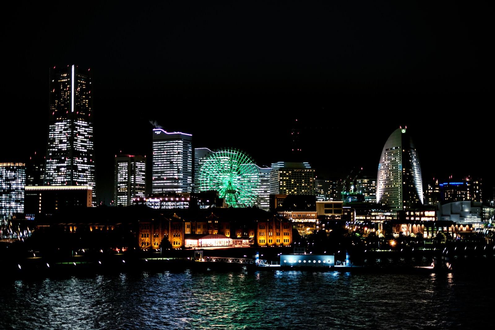 「横浜みなとみらいの夜景横浜みなとみらいの夜景」のフリー写真素材を拡大