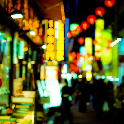 「路地裏の商店」の写真素材
