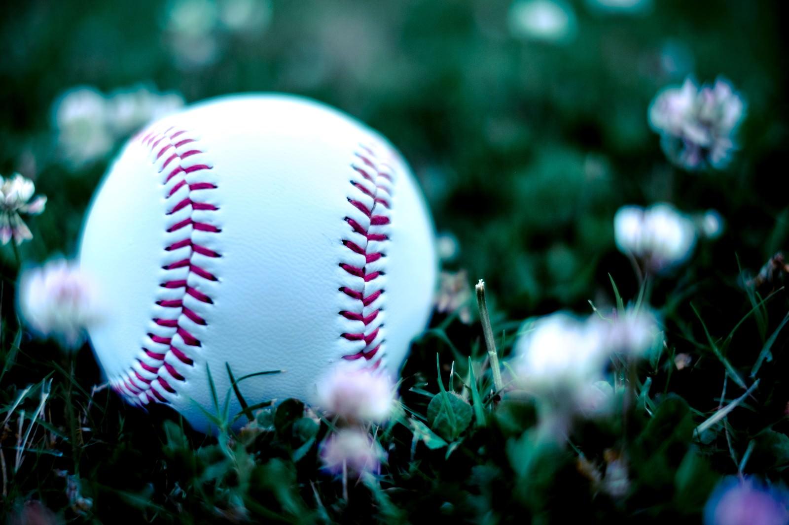 「外野に転がった硬球」