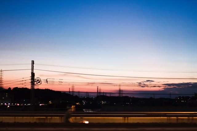 夕暮れ空の写真