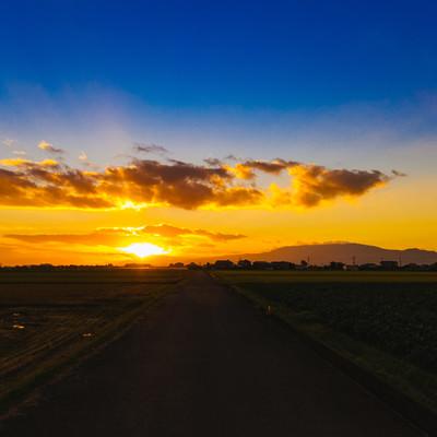 大刀洗の夕暮れ(夕陽)の写真