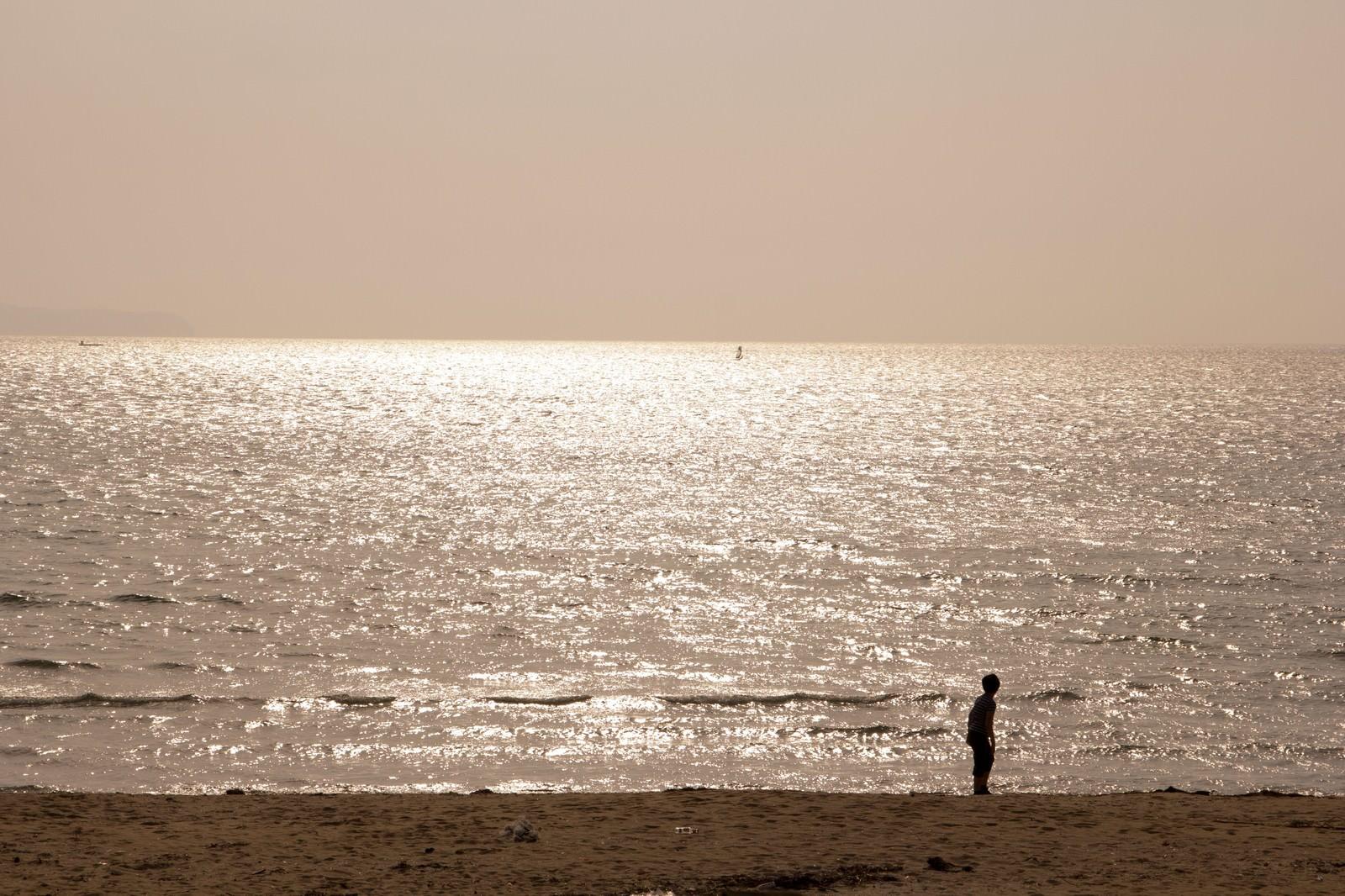 「夕焼けの海岸」の写真