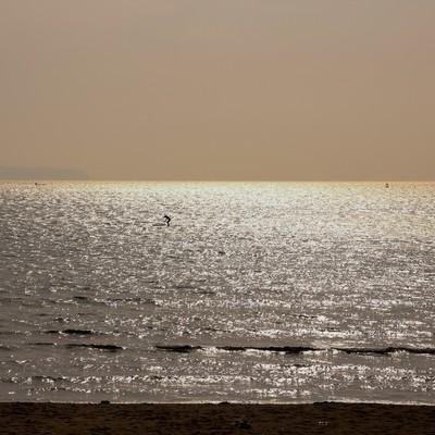 「夕焼けの海」の写真素材