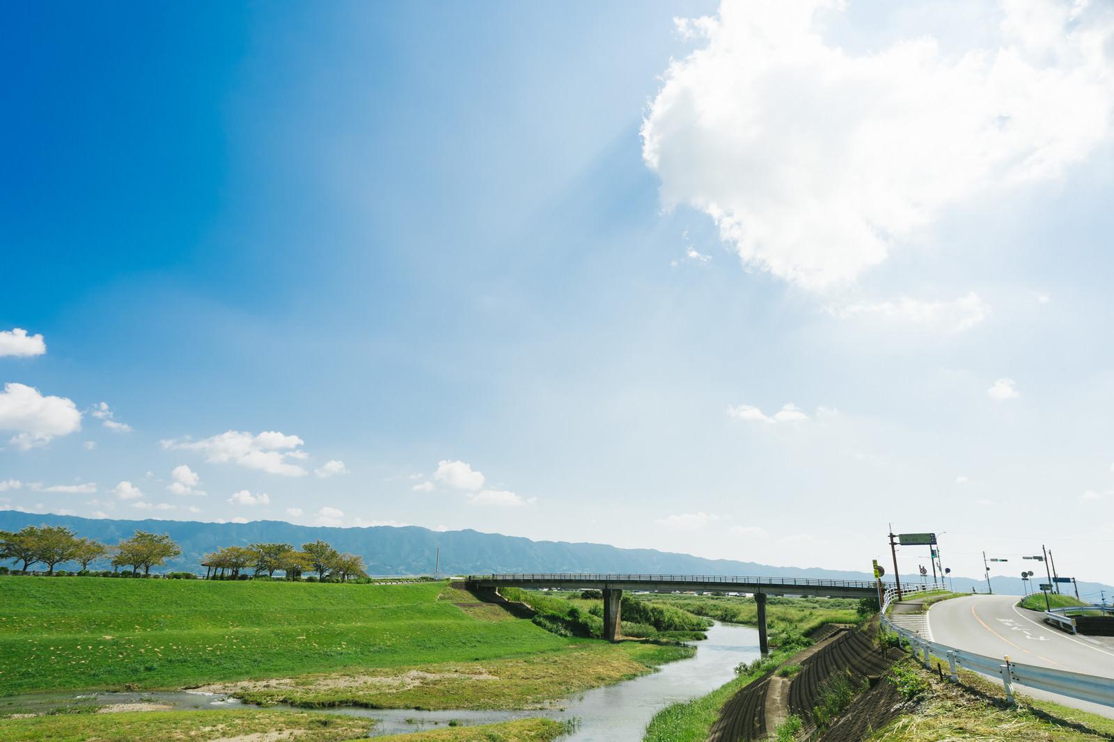 「大刀洗小石原川と河川敷の様子」の写真