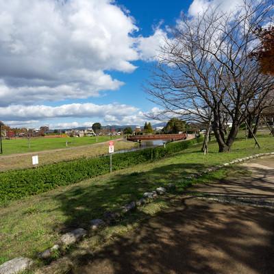 「大刀洗公園内の様子」の写真素材