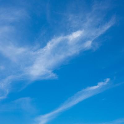 「空・青空」の写真素材