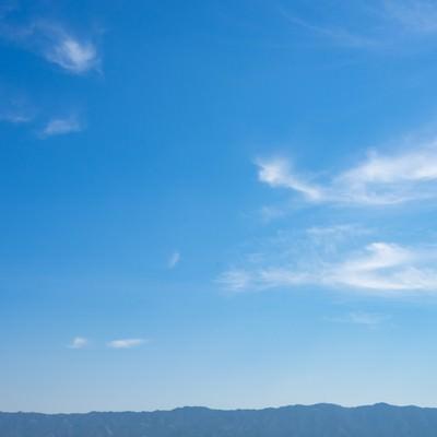 「晴れのち山」の写真素材