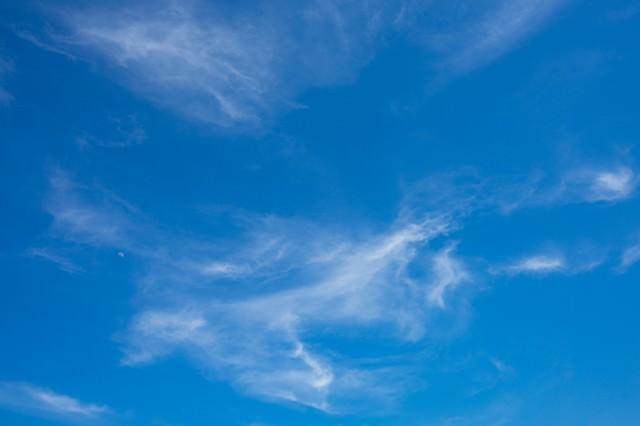 うすいベールの雲の写真