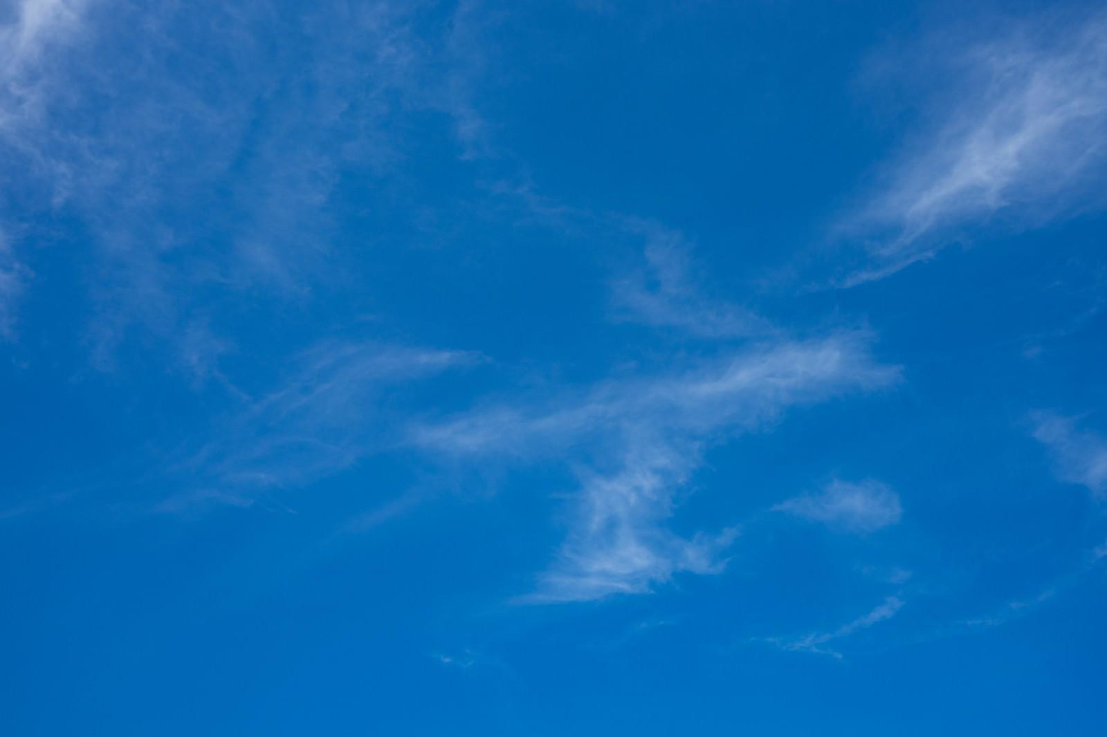 「青空と薄い雲青空と薄い雲」のフリー写真素材を拡大