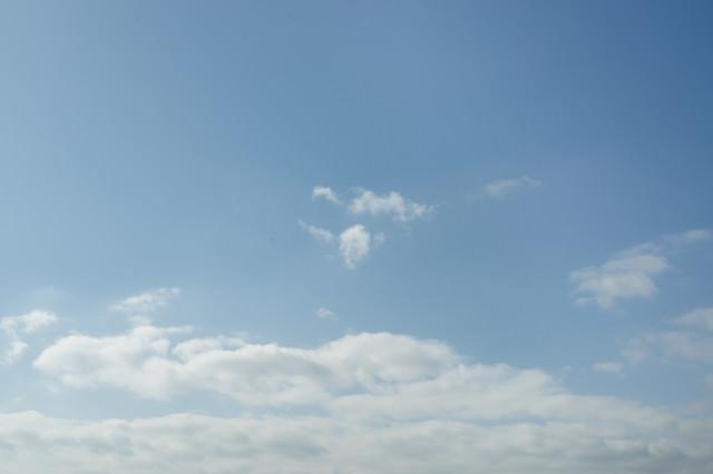 積雲と青空の写真