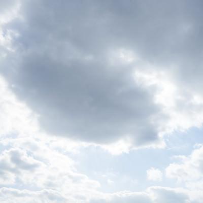 「太陽が雲に隠れる」の写真素材
