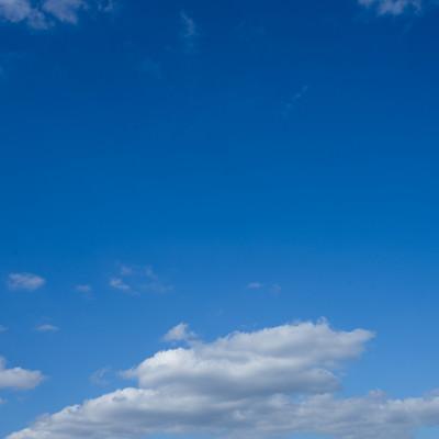 「晴れた空」の写真素材
