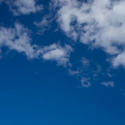 「あおいそらと雲」の写真素材
