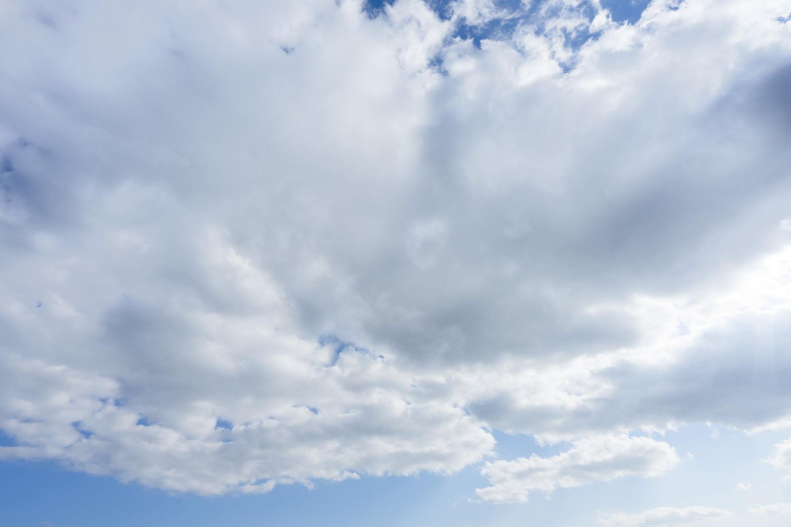 「晴れから、雲が多くなってきた」の写真