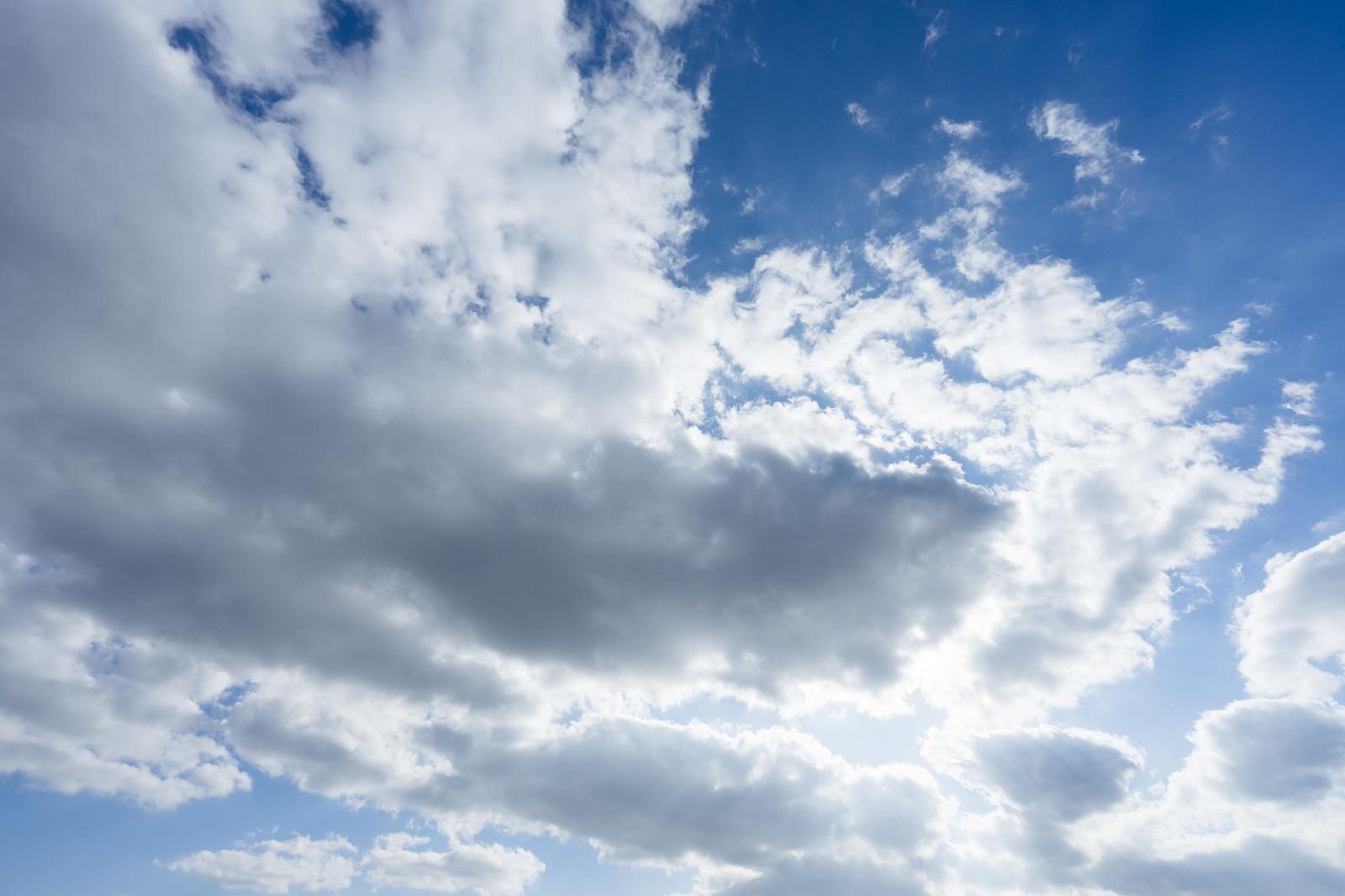 「雲で隠れた太陽」の写真