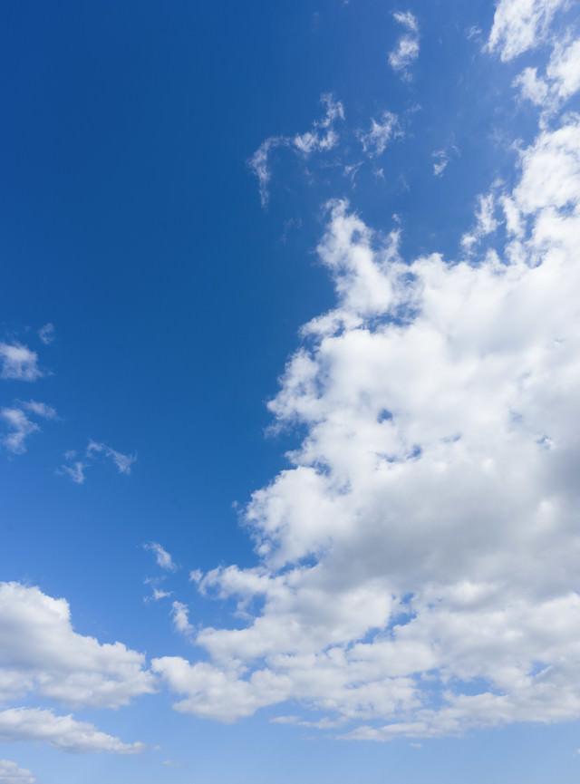 青空と雲のバランスの写真