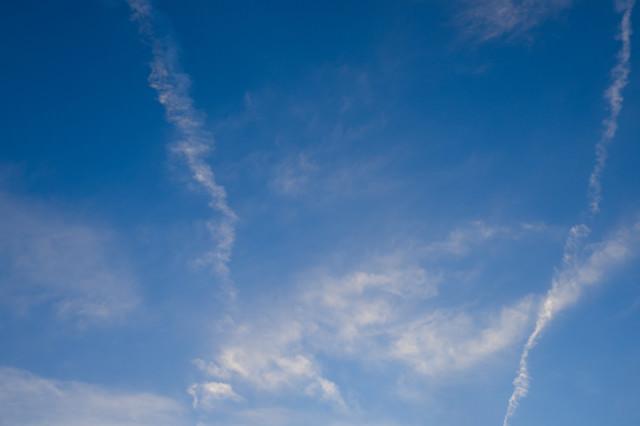 日が暮れてきた空の写真
