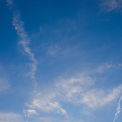 「日が暮れてきた空」の写真素材