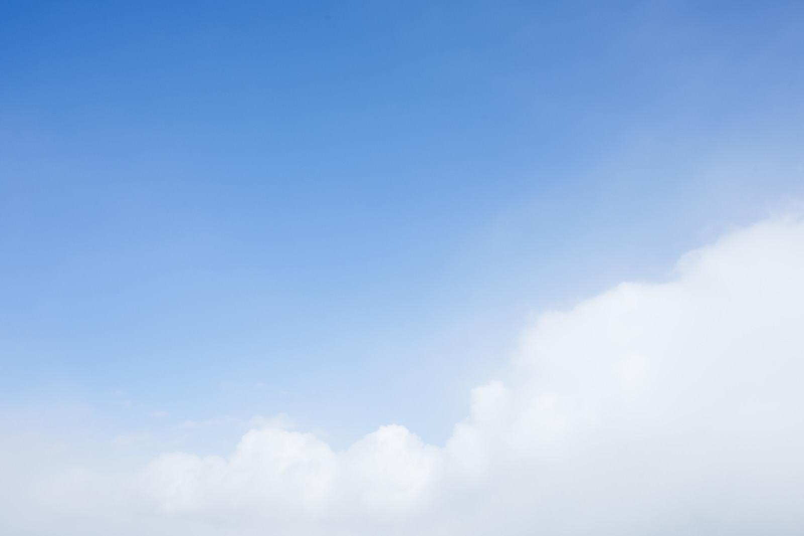 「もこもこ雲と青い空もこもこ雲と青い空」のフリー写真素材を拡大