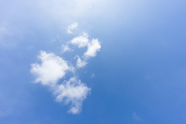 「青い空と雲」のフリー写真素材